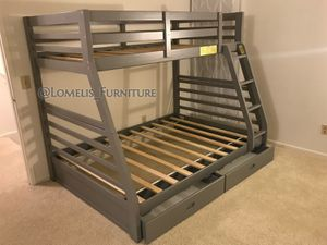 Photo Twin/full bunk beds with mattress included