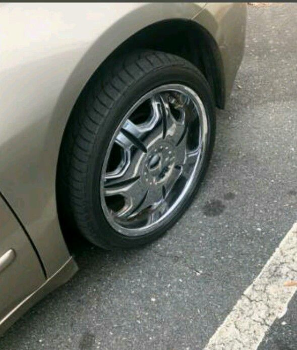 18 Inch Rims And Tries Like NEW!Honda 5 Lug.ect.. For Sale