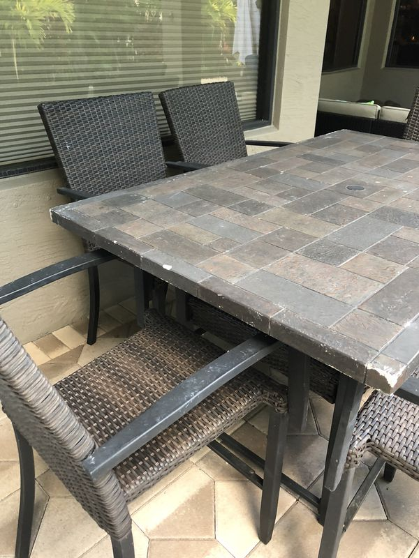 complete outdoor patio set table chairs sectional 2 person