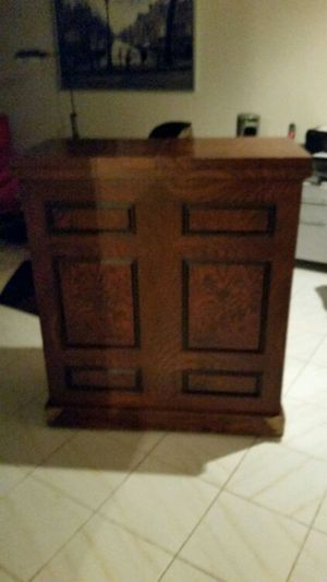 Wood bar cabinet for Sale in Phoenix, AZ