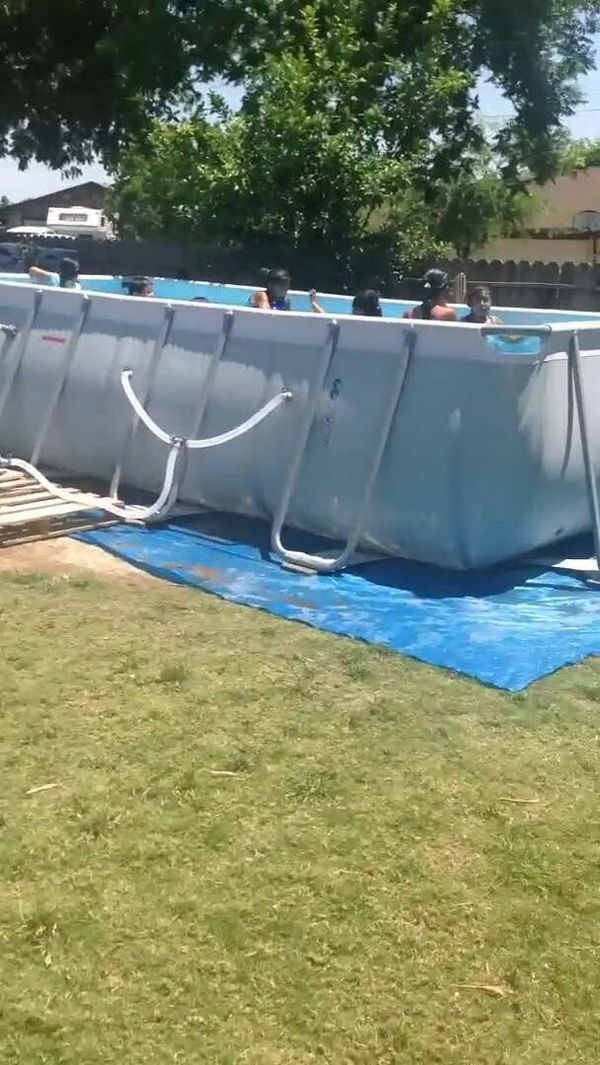 Costco bestway rectangular pool for Sale in Fresno, CA - OfferUp
