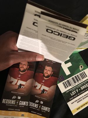 Washington Redskins VS New York Giants at FedEx Field ***Good Seats with Parking** for Sale in Washington, DC