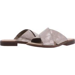 Clarks Womens Slide Sandals Metallic Size 8 Medium (B,M) Thumbnail