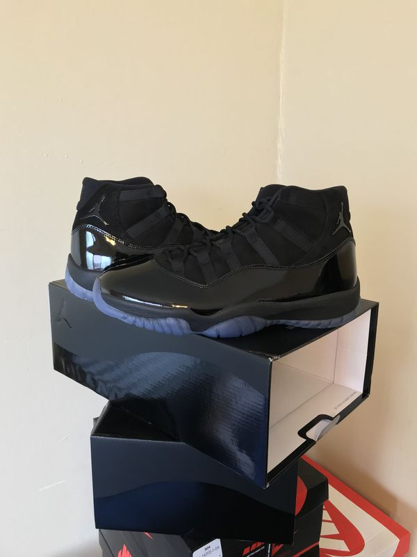 Brand New Air Jordan 11 Prom Night Cap and Gown Black Sizes 9.5 and 10.5  with Receipts d191a17cb