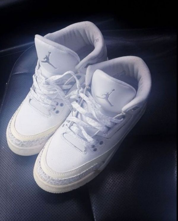 official photos dc214 4f892 $50 Jordan 3 retro Pure white for Sale in Meriden, CT - OfferUp