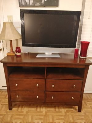 "Like New dresser/ TV stand for big TVs in great condition, all drawers sliding smoothly, pet free smoke free. L48""*W18""*H33"" for Sale in Annandale, VA"