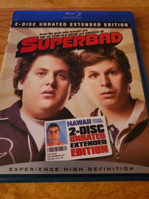 Photo New Never Used Superbad 2 Disc Blu-ray Unrated Extended Edition Movie. Must Pick Up. Shipping Available.