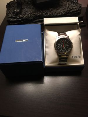 SEIKO chronograph watch with Tachymeter for Sale in Alexandria, VA