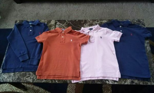 Lot Of Ralph Lauren Polo Shirts 2 Size 4t One Size 5 6 For Sale