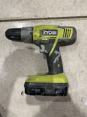 Ryobi 18 volt drill and battery. for Sale in Hialeah, FL