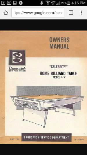 Pleasant 1968 Brunswick Pool Table Model Hy Celebrity For Sale In Shoreline Wa Offerup Download Free Architecture Designs Lukepmadebymaigaardcom