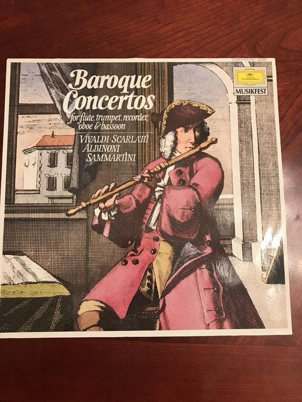 Baroque Concertos for Flute,Trumpet,Recorder,Oboe & Bassoon (Vinyl) for  Sale in Rowland Heights, CA - OfferUp
