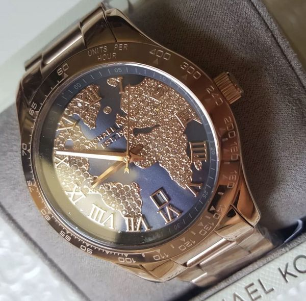 World Map Watch Michael Kors.Nwt Michael Kors World Map Watch Rose Gold For Sale In Mansfield
