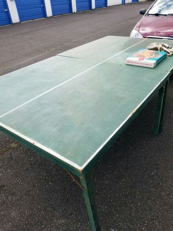 Ping Pong Beer Table W Vintage Set And A Volleyball Net For In Spanaway Wa Offerup