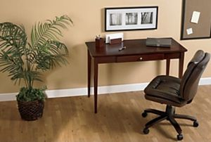 Realspace® Inlay Writing Desk, Light Cherry for Sale in Gaithersburg, MD