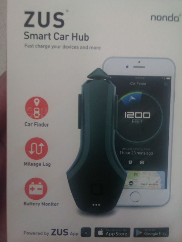 smart car hub phone charger car finder mileage log electronics