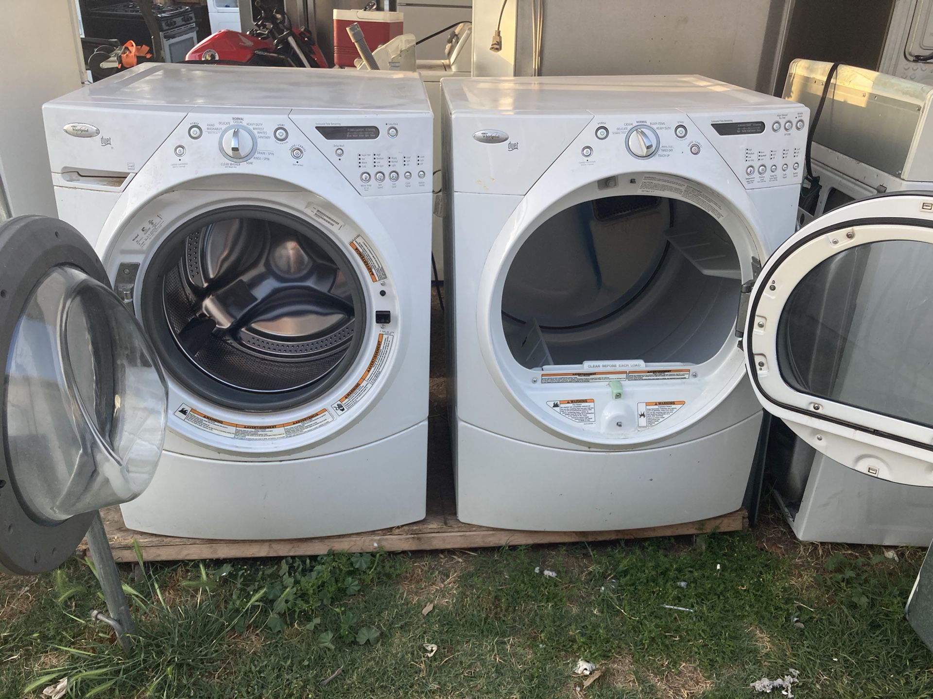 Washer And Gas Dryer Heavy Duty Brand Whirlpool Everything Works 3 Months Of Guarantee