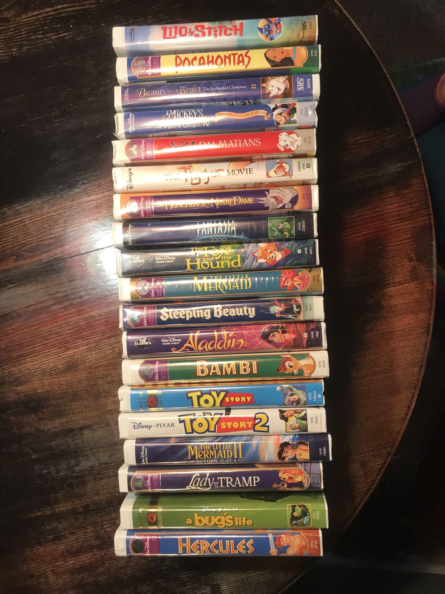 Very rare Disney VHS movies