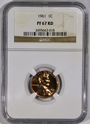 Photo 1961 Lincoln Cent Proof NGC PF-67 RED