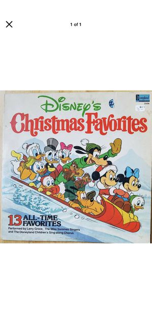 Photo Disney Christmas favorites vinyl gently used 1st original press