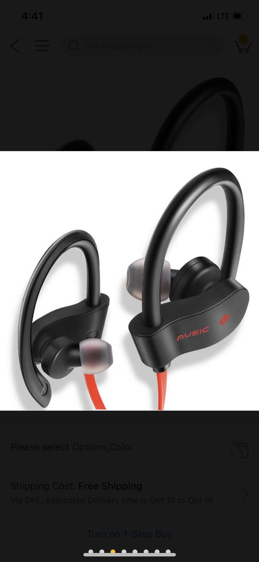 Wireless Bluetooth Sport Headphones Works Handsfree for Phone Calls and Music Compatible w/ iPhone, Samsung and all Android
