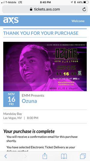 2 Ozuna tickets for Sale in Las Vegas, NV