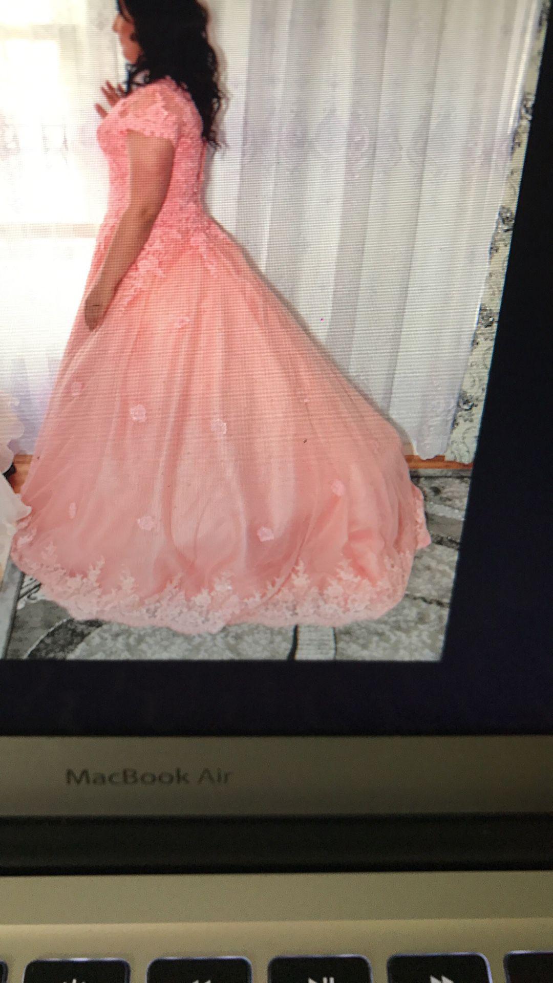 Wedding pink dress