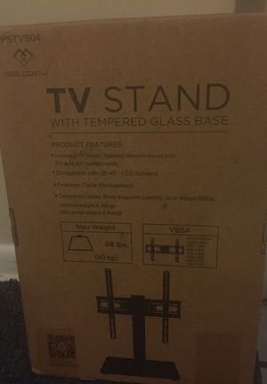 Tv Stand With Tempered Glass Base for Sale in Baltimore, MD