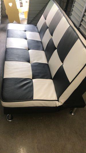 White Black Checkered Futon For In West Palm Beach