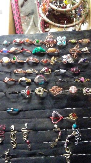 Handmade wire wrap rings/ear cuffs for Sale in UT, US
