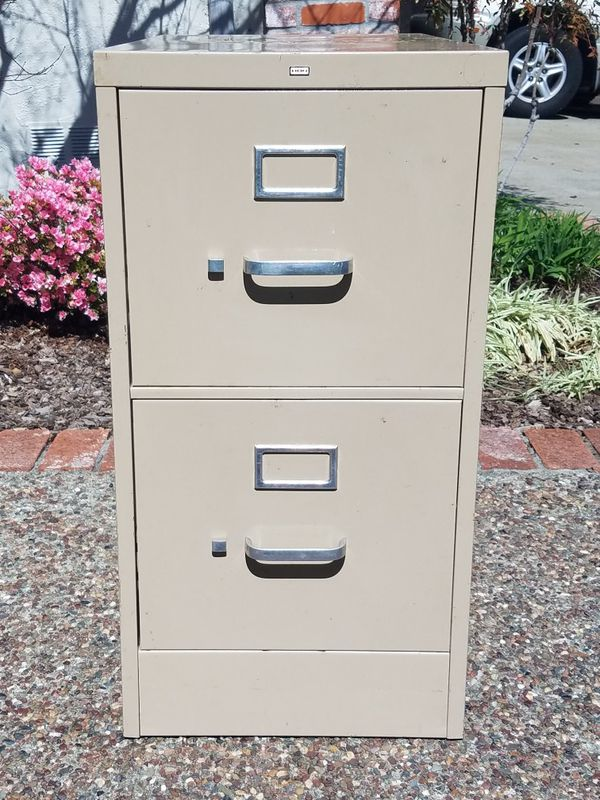 File Cabinet 2 Drawer Legal Size Cream Color For Sale In