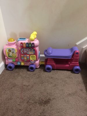 Baby learning toy. 2 in 1 ride on / push train set. for Sale in Ashburn, VA