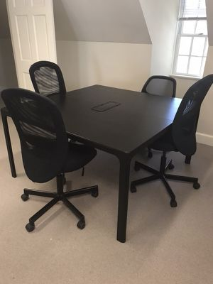 Quality Built Hooker Furniture Table For Sale In Charlottesville VA - Large square conference table