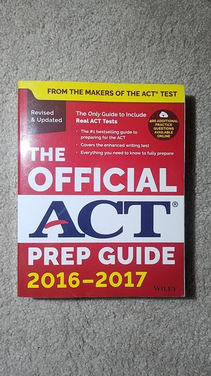 The Official ACT Prep Guide 2016-2017 for Sale in Fairfax, VA