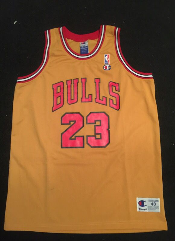 dc966410211 RARE NBA Champion Gold Jersey Michael Jordan for Sale in Youngtown ...