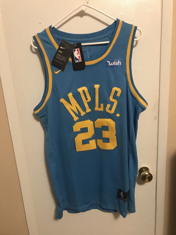 detailed look db1c2 375ba Lebron James #23 Blue Los Angeles lakers MPLS Jersey! for Sale in Burbank,  CA - OfferUp