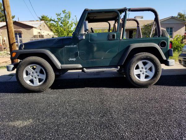 1999 Jeep Wrangler For Sale >> 1999 Jeep Wrangler Tj For Sale In Glendale Az Offerup