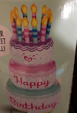 Magnificent Inflatable Birthday Cake Brand New 1694 Potranco Kohls For Sale Personalised Birthday Cards Bromeletsinfo