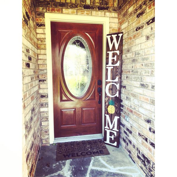 Welcome Sign Pineapple Front Porch Decor For Sale In Hurst Tx Offerup