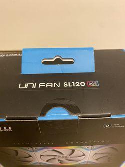 Lian Li UNI RGB Fan SL120 WHITE 3 Pk Thumbnail