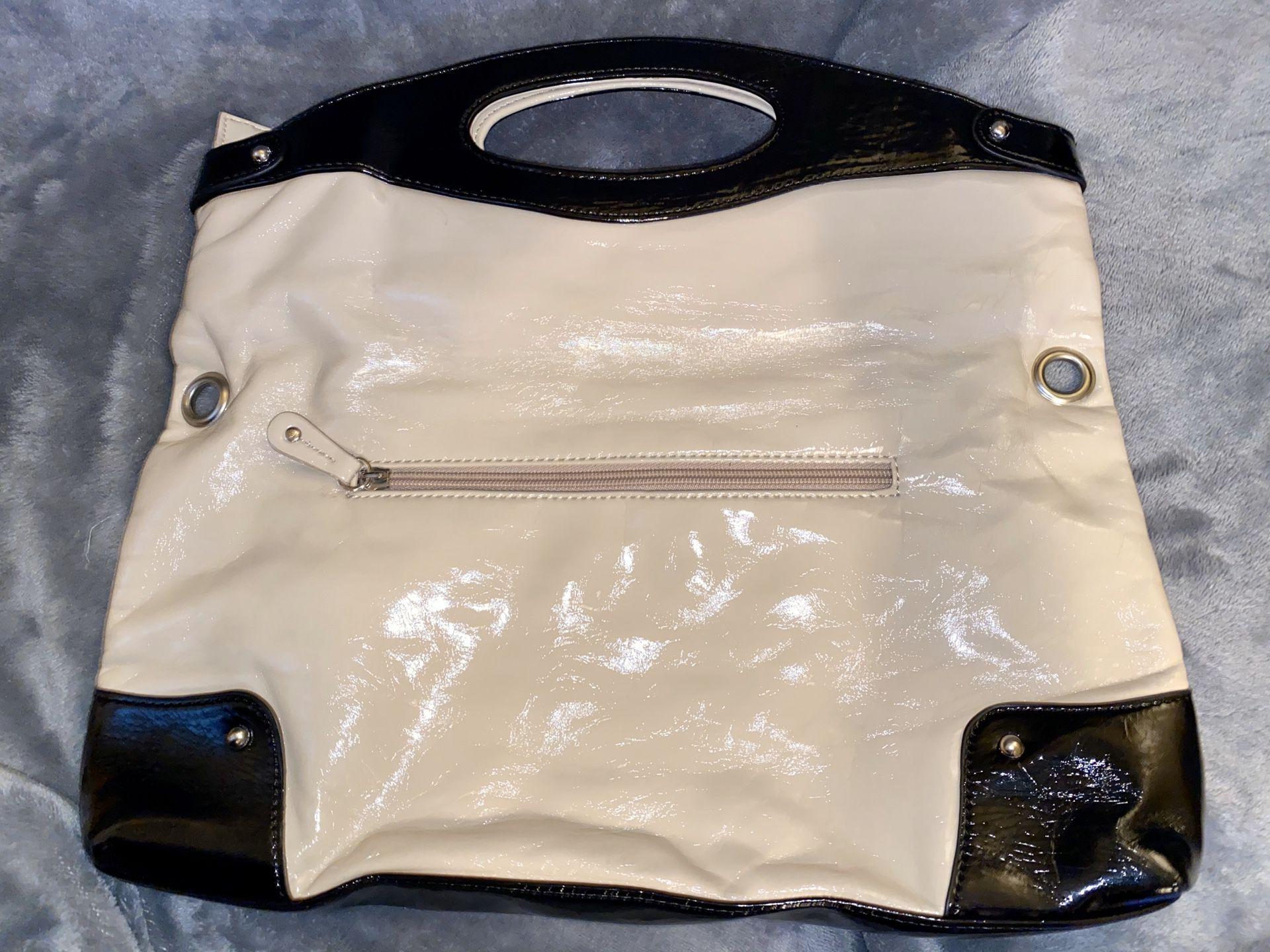 Nine West Black and Cream Tote Bag
