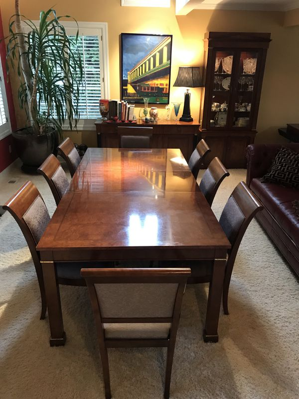 Spectacular Baker Furniture Dining Room Table Chairs