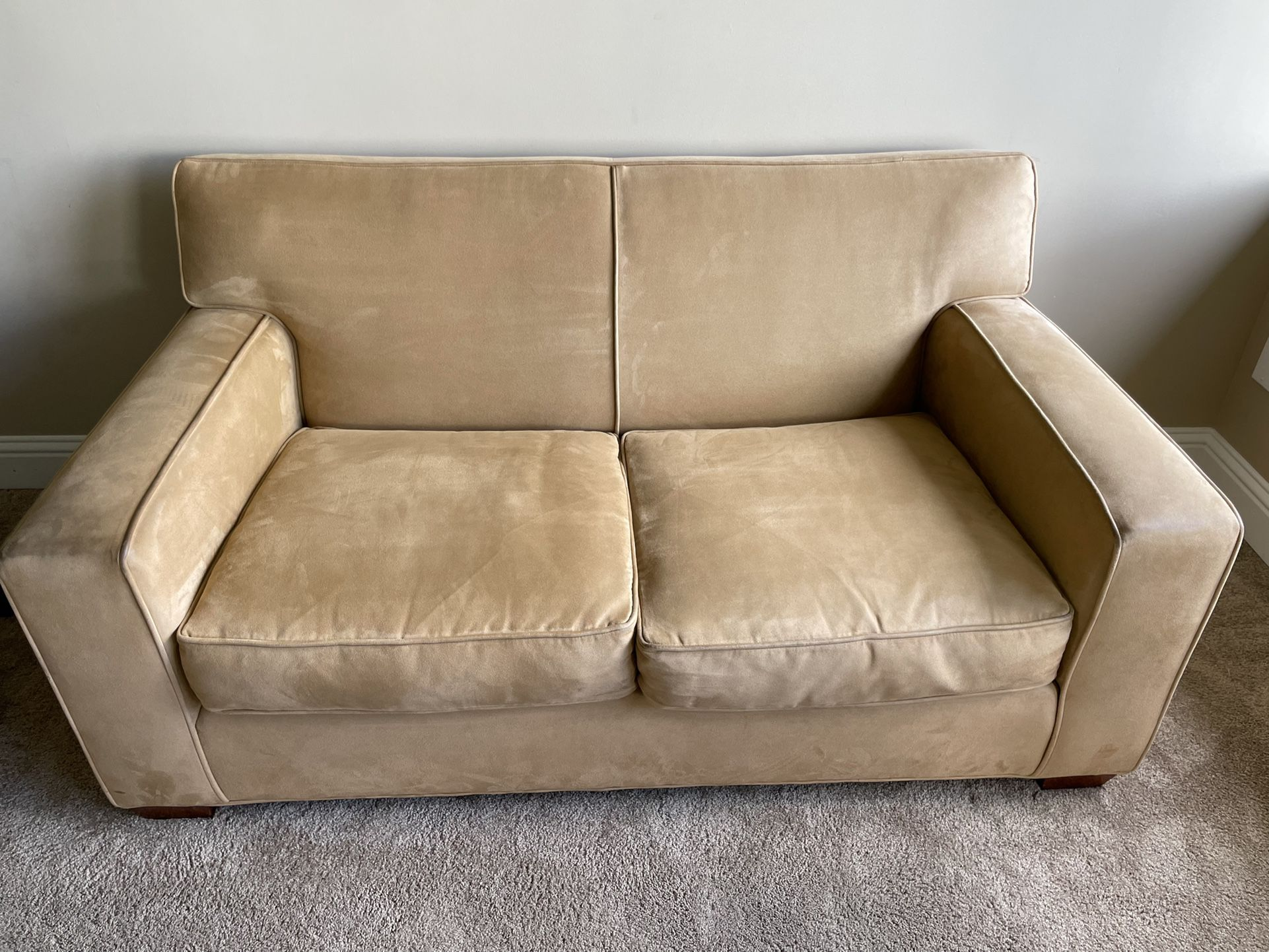 Nice microfiber loveseat , Small Couch