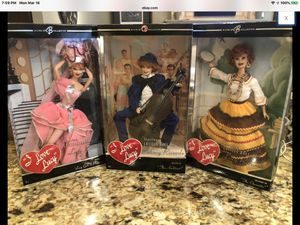 Photo BARBIE I LOVE LUCY-THE AUDITION,THE OPERETTA,LUCY GETS IN PICTURES-NRFB lot of 3