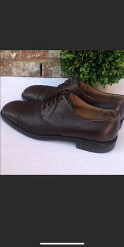 SALVATORE FERRAGAMO Leather Round Toe Oxfords Thumbnail