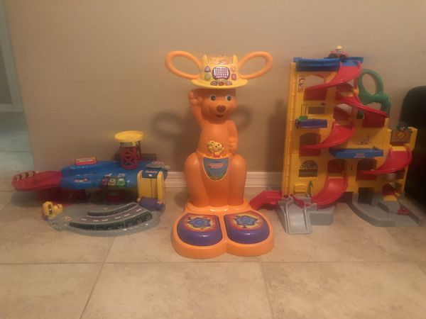 Kids toys - Vtech Step & Count Kangaroo, Fisher Price Little People ...