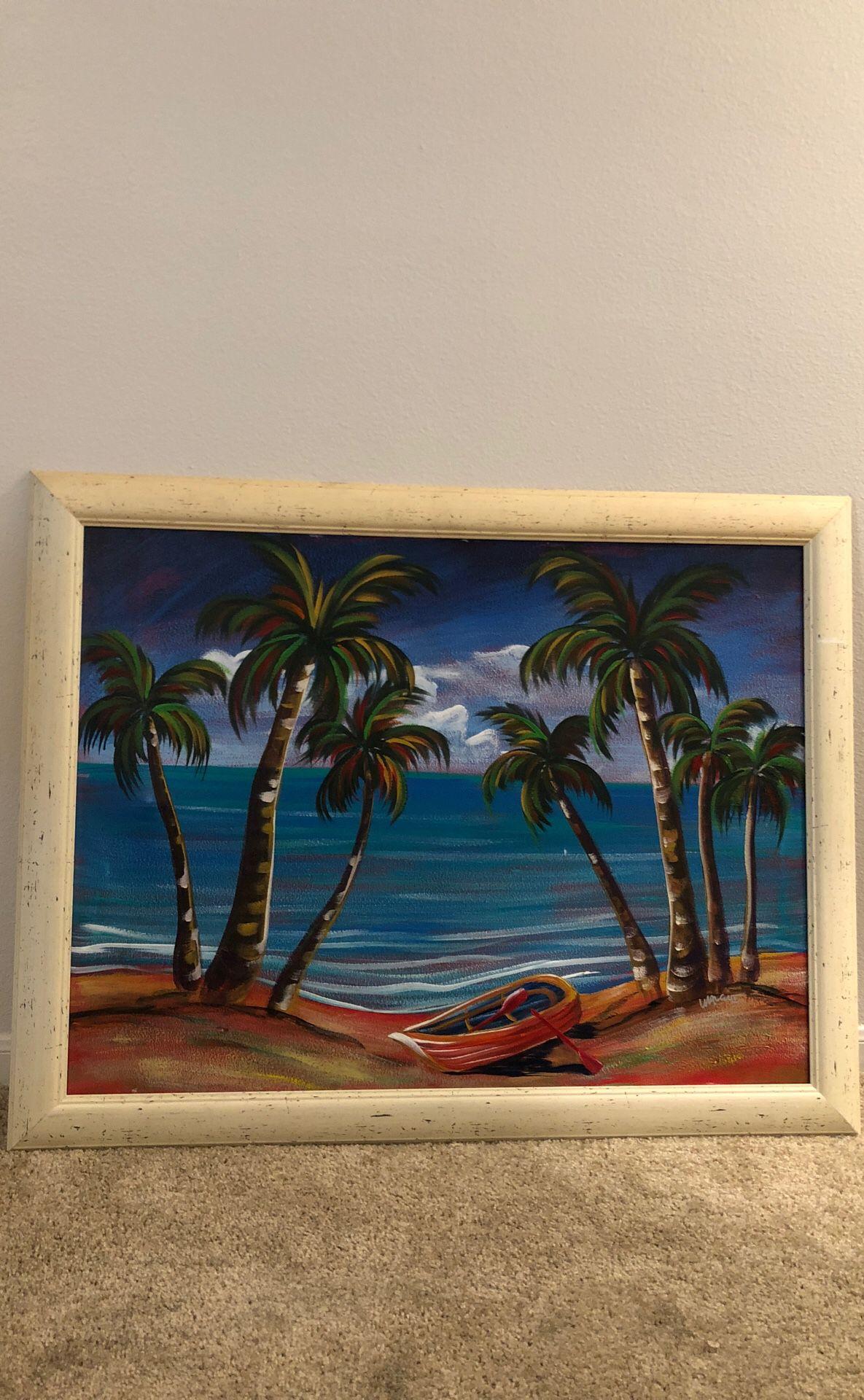 Beach Island Oasis Painting
