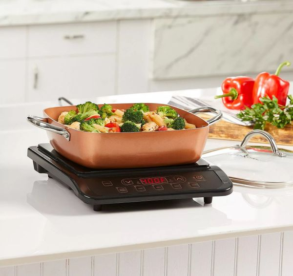 Copper Chef Pro Induction Cooktop 11 Cerole Pan Black
