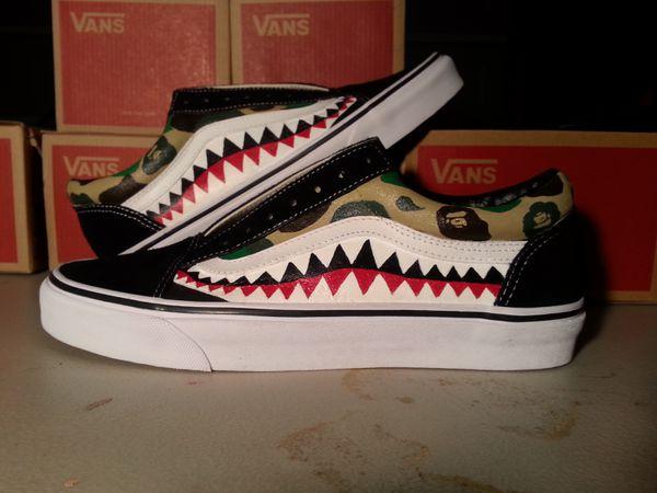 6657be57e1 Custom Bape Vans (you must provide shoes) for Sale in Fontana