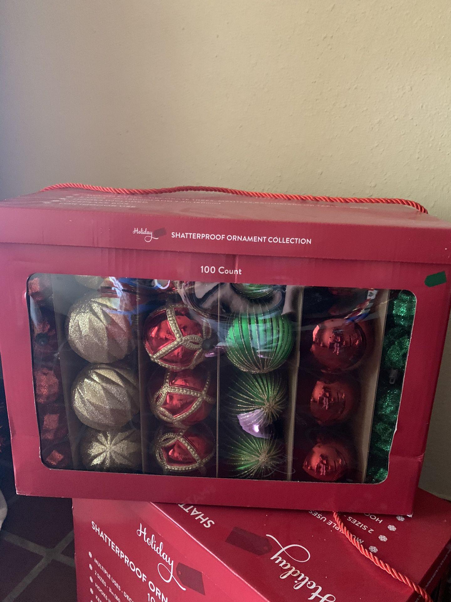 1 box Christmas decorating ornaments